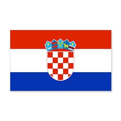 Croatia Flag 22x14 Wall Peel