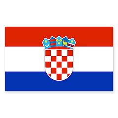 Croatia Flag Sticker (Rectangle 50 pk)