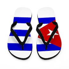 Cuba Flag Flip Flops