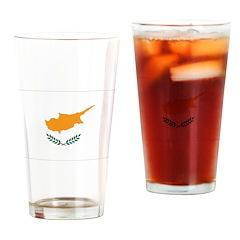 Cyprus Flag Drinking Glass