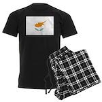 Cyprus Flag Men's Dark Pajamas