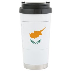 Cyprus Flag Stainless Steel Travel Mug