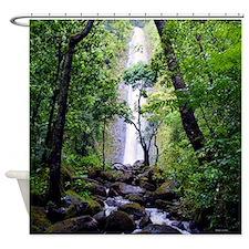 Manoa Valley Falls Shower Curtain