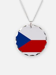 Czech Republic Flag Necklace