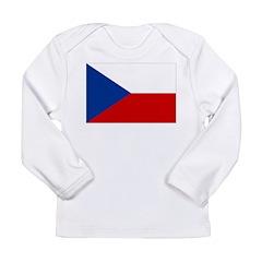 Czech Republic Flag Long Sleeve Infant T-Shirt