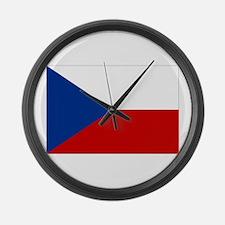 Czech Republic Flag Large Wall Clock