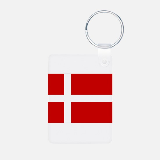 Denmark Flag Aluminum Photo Keychain
