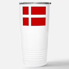 Denmark Flag Stainless Steel Travel Mug