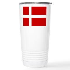 Denmark Flag Travel Mug