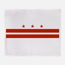 District of Columbia Flag Throw Blanket