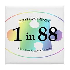 1in88 Oval - Spectrum Tile Coaster