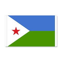 Djibouti Flag Car Magnet 20 x 12