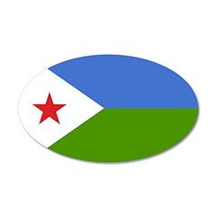 Djibouti Flag 22x14 Oval Wall Peel