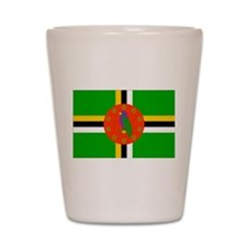 Dominica Flag Shot Glass