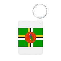 Dominica Flag Keychains