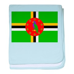 Dominica Flag baby blanket