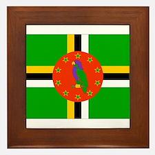 Dominica Flag Framed Tile