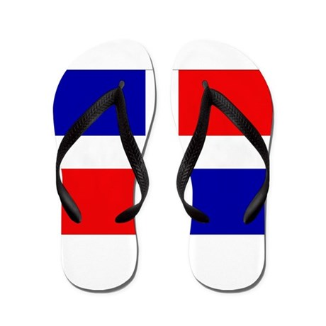 Dominican Republic Flag Flip Flops
