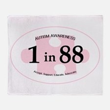 1in88 Oval - Pink Throw Blanket