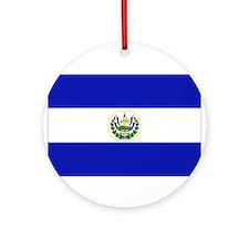 El Salvador Flag Ornament (Round)