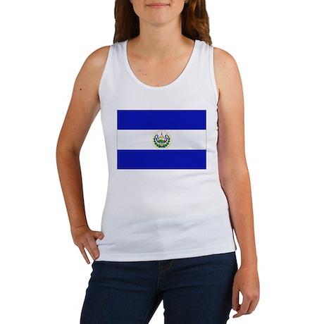El Salvador Flag Women's Tank Top