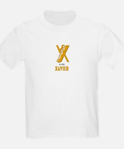 """X"" is for Xavier Kids T-Shirt"