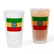 Ethiopia Flag Drinking Glass