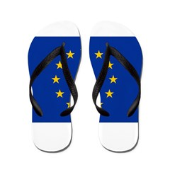 European Union Flag Flip Flops