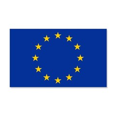 European Union Flag 22x14 Wall Peel