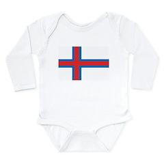 Faroe Islands Flag Long Sleeve Infant Bodysuit