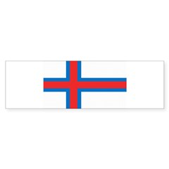 Faroe Islands Flag Bumper Sticker