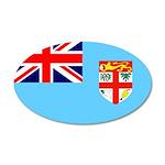 Fiji Flag 22x14 Oval Wall Peel
