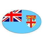 Fiji Flag Sticker (Oval 10 pk)