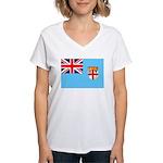 Fiji Flag Women's V-Neck T-Shirt