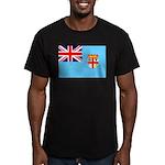 Fiji Flag Men's Fitted T-Shirt (dark)