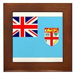 Fiji Flag Framed Tile
