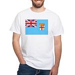Fiji Flag White T-Shirt