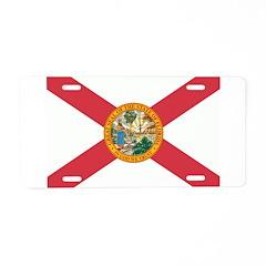 Florida Flag Aluminum License Plate