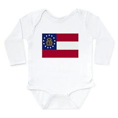 Georgia Flag Long Sleeve Infant Bodysuit