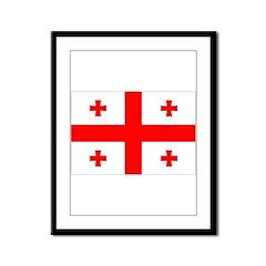 Georgia Flag Framed Panel Print