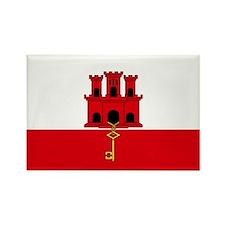 Gibraltar Flag Rectangle Magnet