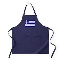Greece Flag Apron (dark)