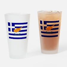 Greek Cyprus Flag Drinking Glass