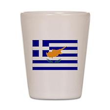 Greek Cyprus Flag Shot Glass