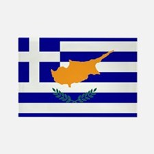 Greek Cyprus Flag Rectangle Magnet