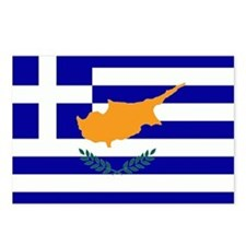 Greek Cyprus Flag Postcards (Package of 8)