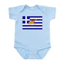 Greek Cyprus Flag Infant Bodysuit