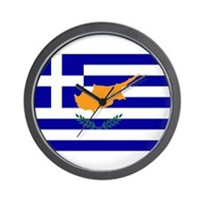 Greek Cyprus Flag Wall Clock