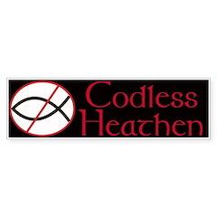 Codless Heathen Bumper Sticker