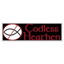 Codless Heathen Sticker (Bumper)